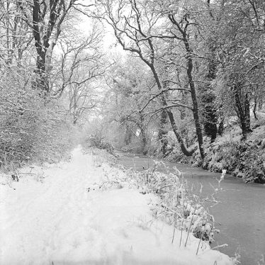 Nuneaton.  Grifff Arm in the snow
