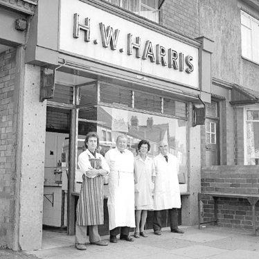 Nuneaton.  Croft Road, H.W. Harris, butchers