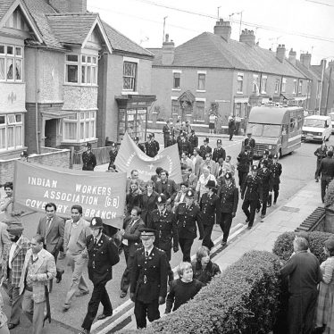 Nuneaton.  Edward Street, protest march