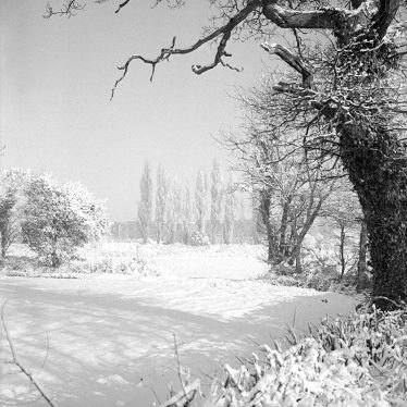 Nuneaton.  Gipsy Lane, snow scene