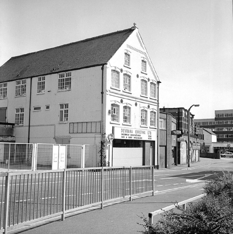 Factory of Devrana Quilting Ltd, Bond Street, Nuneaton.  Once owned by Ellis & Everard.  1982 |  IMAGE LOCATION: (Warwickshire County Record Office)