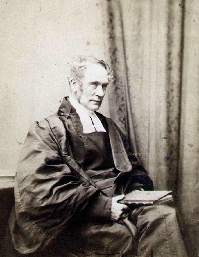 Rev J Craig, vicar of All Saints Leamingtonn 1839 - 1877. |  IMAGE LOCATION: (Leamington Library) PEOPLE IN PHOTO: Gray, Dr J