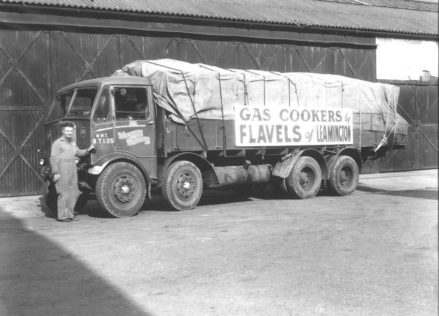 First load of Speedway Cookers to leave the Flavels factory, Leamington Spa.  1946 |  IMAGE LOCATION: (Leamington Library)