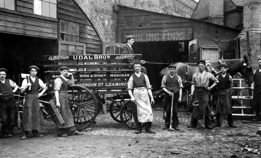 Henry Savage, blacksmith, wheelwright and general iron worker,  3 Court Street, Leamington Spa.  1900s |  IMAGE LOCATION: (Leamington Library) PEOPLE IN PHOTO: Savage, Henry, Savage as surname