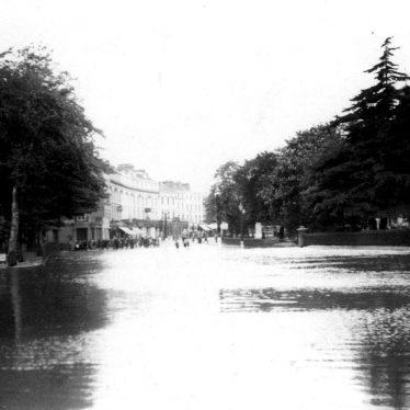 Leamington Spa.  Pump Rooms, flooding