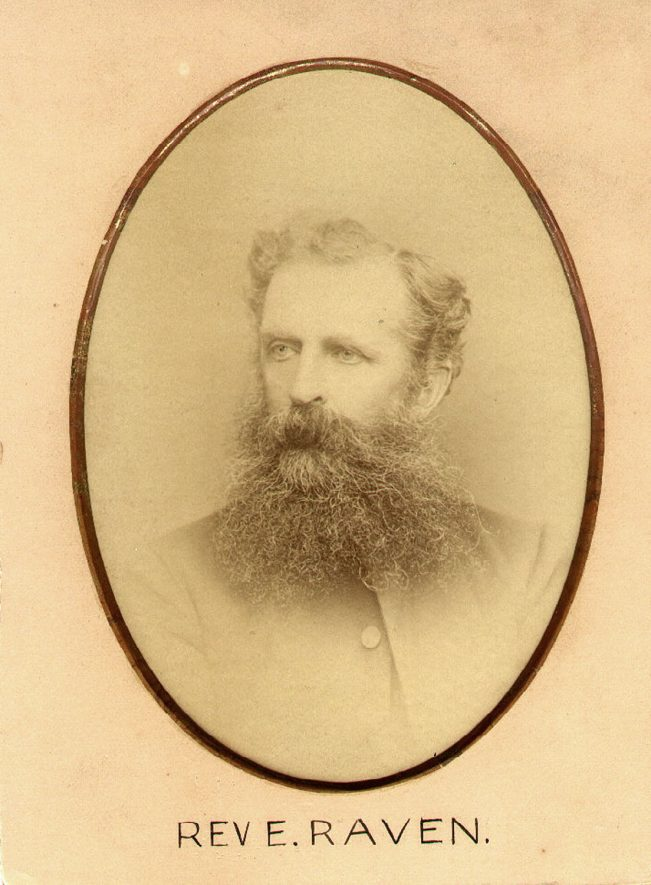 The Rev. E Raven, member of the Leamington Chess Club, Leamington Spa.  1880s |  IMAGE LOCATION: (Leamington Library)