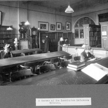 Leamington Spa.  Avenue Road Library, reference department