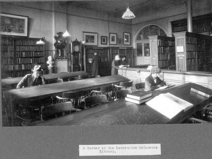 Leamington Spa public library reference department.  1930s |  IMAGE LOCATION: (Leamington Library)
