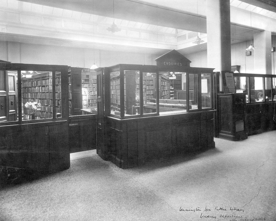 Leamington Spa public library lending department after enlargement.  1930s |  IMAGE LOCATION: (Leamington Library)