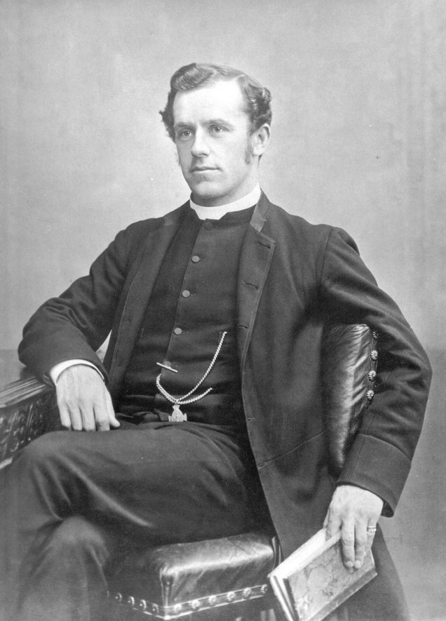 Studio portrait of  Reverend Walter C. Furmeaux, vicar of All Saint's parish church, Leamington Spa from 1884 - 1896. |  IMAGE LOCATION: (Warwickshire County Record Office) PEOPLE IN PHOTO: Furmeaux, Revd Walter C