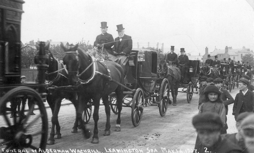 Funeral procession of Alderman Wackrill in Leamington Spa on May 16th 1907. |  IMAGE LOCATION: (Leamington Library)