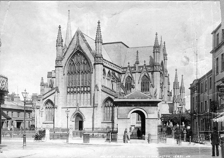 All Saints Church and Aylesford Well, Leamington Spa.  Pre 1900 |  IMAGE LOCATION: (Leamington Library)