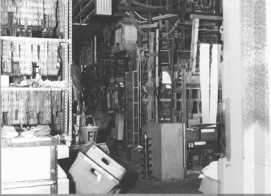 Ribbon weaving factory.  Section of older part of factory.  Bedworth.  14 March 1968 |  IMAGE LOCATION: (Warwickshire County Record Office)