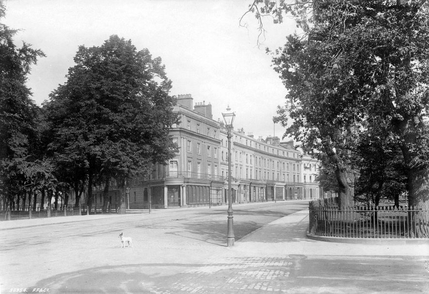The Parade on the corner of Newbold Terrace, looking towards Dormer Place.  1892 |  IMAGE LOCATION: (Leamington Library)