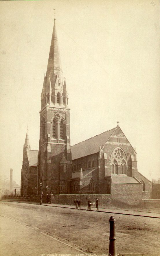 Picture of St Paul's church taken towards the end of the 19th century |  IMAGE LOCATION: (Leamington Library)