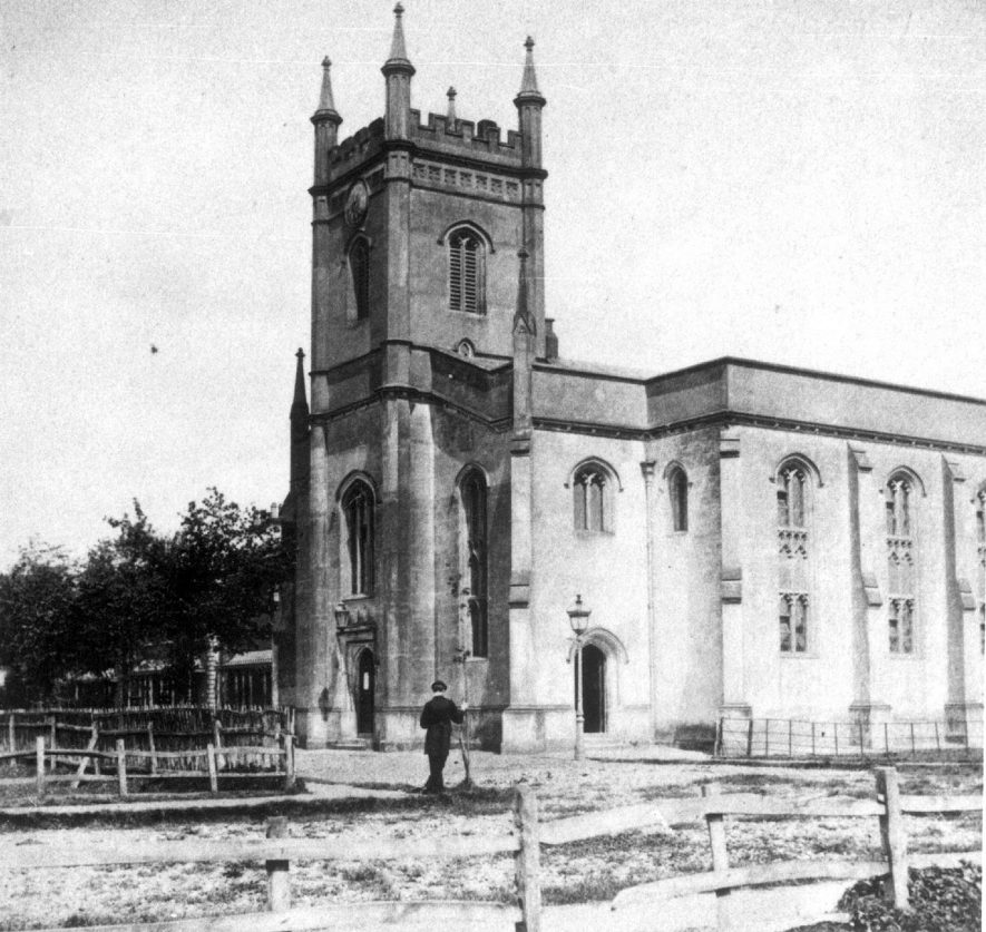 St Mary's church about the turn of the 20th century |  IMAGE LOCATION: (Leamington Library)