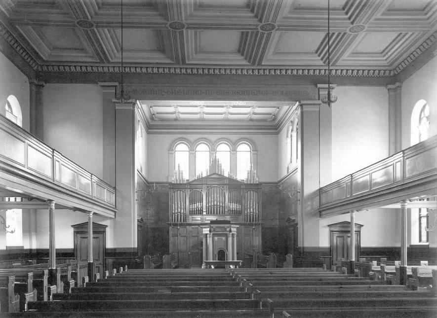 Interior of Spencer Street Chapel.  1880s |  IMAGE LOCATION: (Leamington Library)