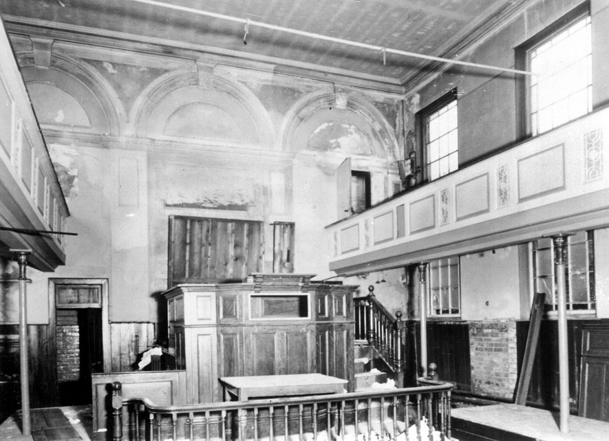 Interior of Warwick Street Methodist Chapel in 1870 |  IMAGE LOCATION: (Leamington Library)