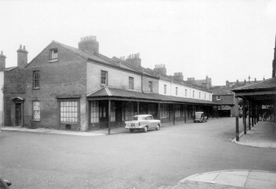 Property in Covent Garden before its demolition in 1958. |  IMAGE LOCATION: (Leamington Library)