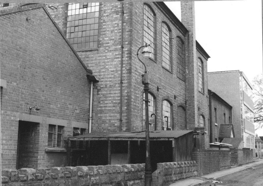 Newtown Road, Bedworth.  Ribbon weaving factory. Exterior.  1968 |  IMAGE LOCATION: (Warwickshire County Record Office)
