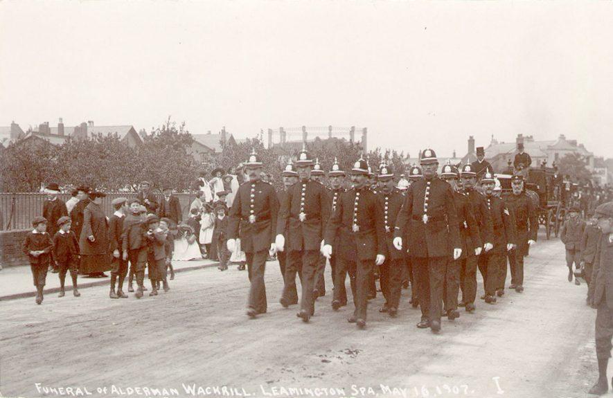 The Funeral of Alderman Wackrill, Leamington Spa.  16 May 1907    IMAGE LOCATION: (Leamington Library)