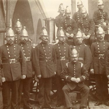 Leamington Spa.  Fire brigade group