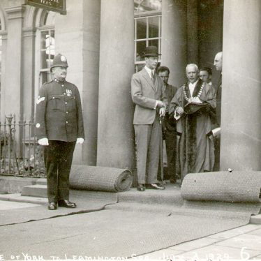 Leamington Spa.  Visit by the Duke of York