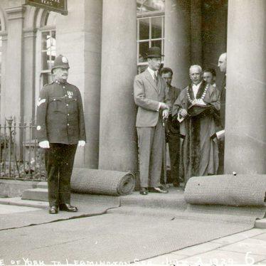 Leamington Spa.  Visit by the Duke of York