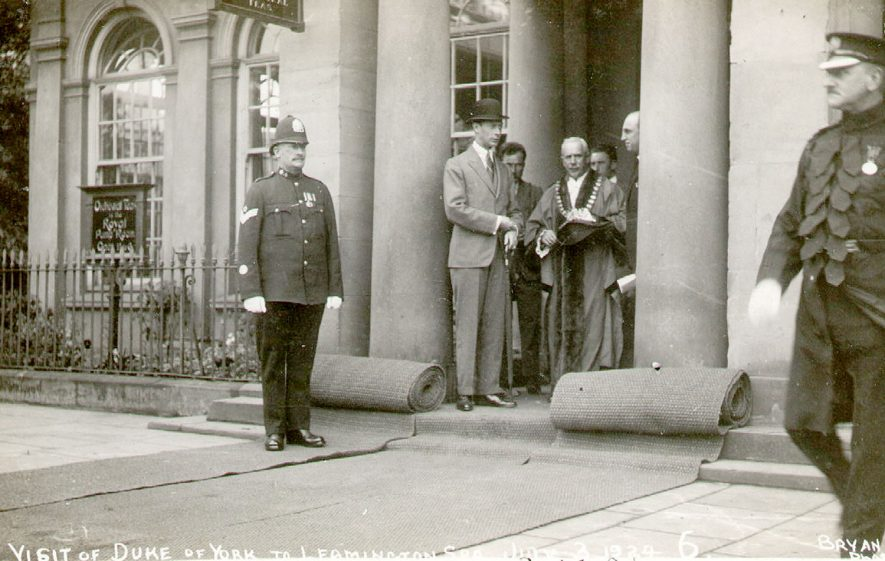 Visit by the Duke of York to Leamington Spa.  1924 |  IMAGE LOCATION: (Leamington Library) PEOPLE IN PHOTO: York, Duke of