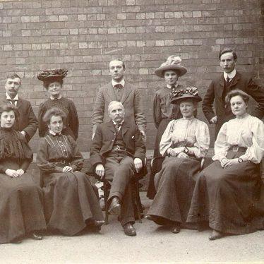 Leamington Spa.  Bath Place Infants School, teachers