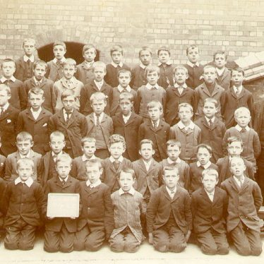 Leamington Spa.  Leicester Street, school boys