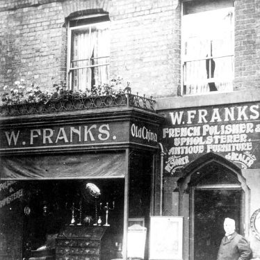 Leamington Spa.  Warwick Place, The Dell, W. Frank's shop