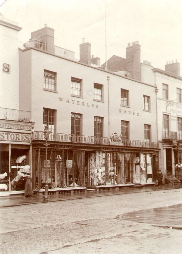Waterloo House and shops in Bath Street, Leamington Spa.  1905 |  IMAGE LOCATION: (Leamington Library)