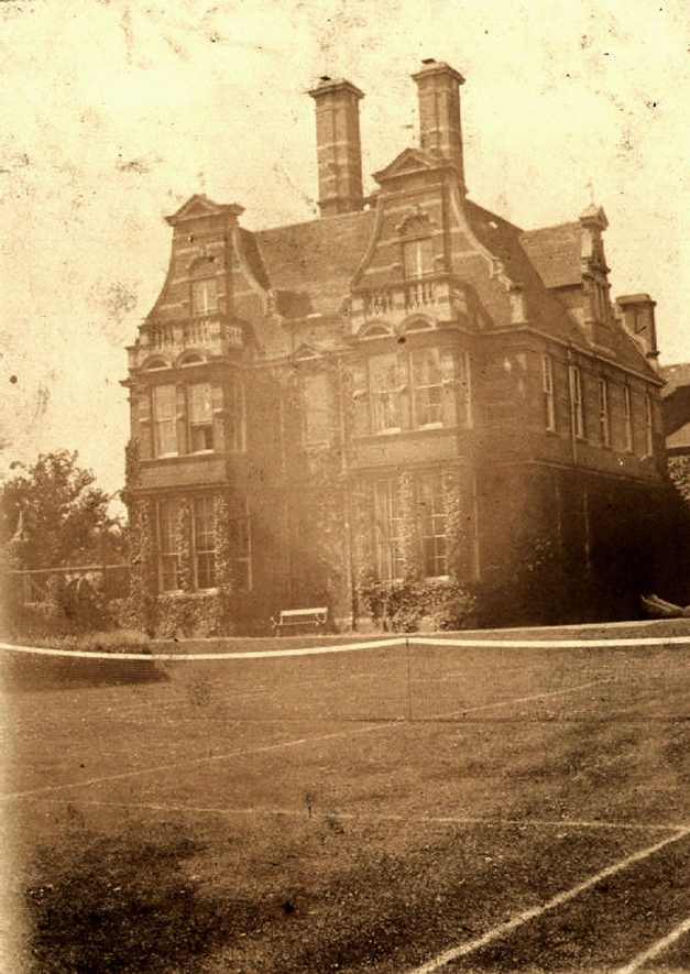 Saint Mark's Church vicarage, with tennis court in front. Milverton.  1920s |  IMAGE LOCATION: (Leamington Library)