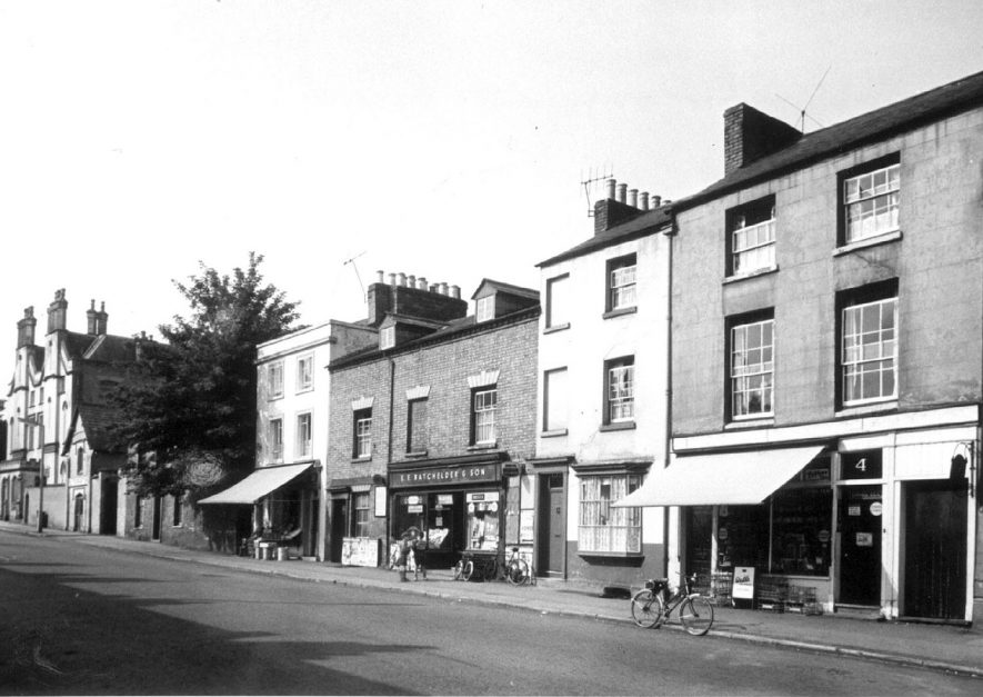 Shops and properties on the west side of Binswood Street, Leamington Spa.  1964 |  IMAGE LOCATION: (Leamington Library)