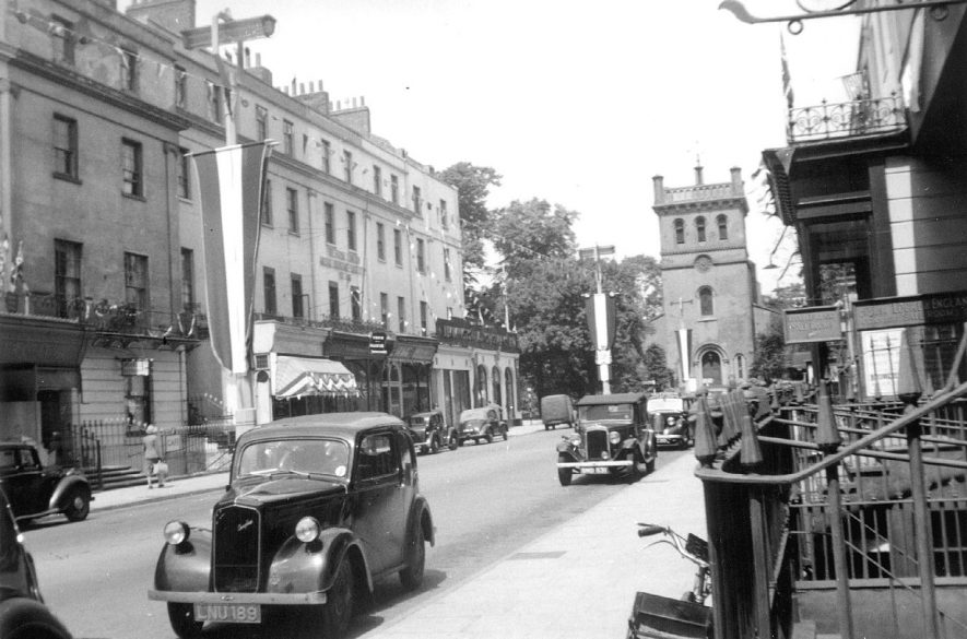 The Upper Parade showing Christchurch which was demolished in 1959. |  IMAGE LOCATION: (Leamington Library)
