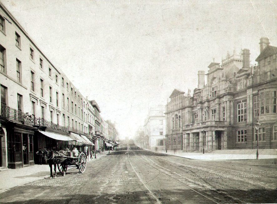 An early photograph of the Parade.  1860s |  IMAGE LOCATION: (Leamington Library)