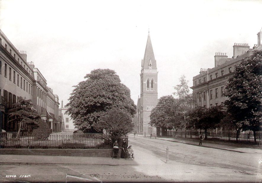 St Alban's church in Warwick Street, now demolished, Leamington Spa.  1900s |  IMAGE LOCATION: (Leamington Library)