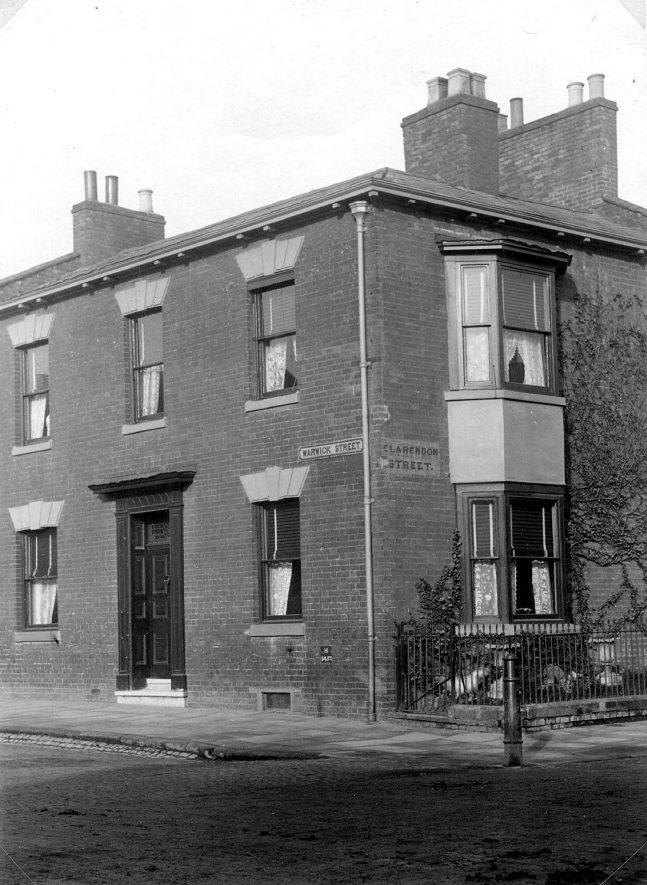 140, Warwick Street, Leamington Spa.  Home of the Wackrill family.  1920s |  IMAGE LOCATION: (Leamington Library)