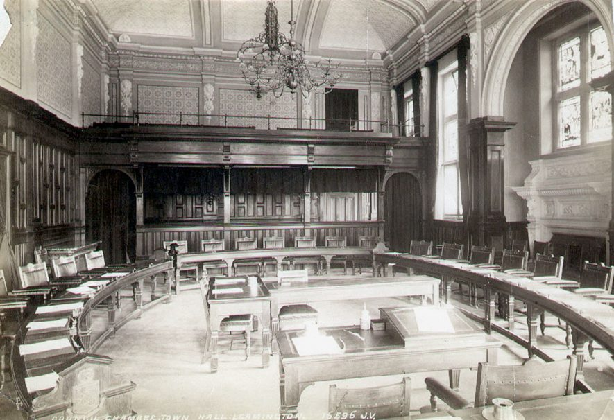 The Council Chamber, Leamington Spa.  1920s |  IMAGE LOCATION: (Leamington Library)