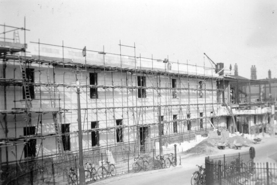 New station front taking shape at Leamington Spa.  1938 |  IMAGE LOCATION: (Leamington Library)