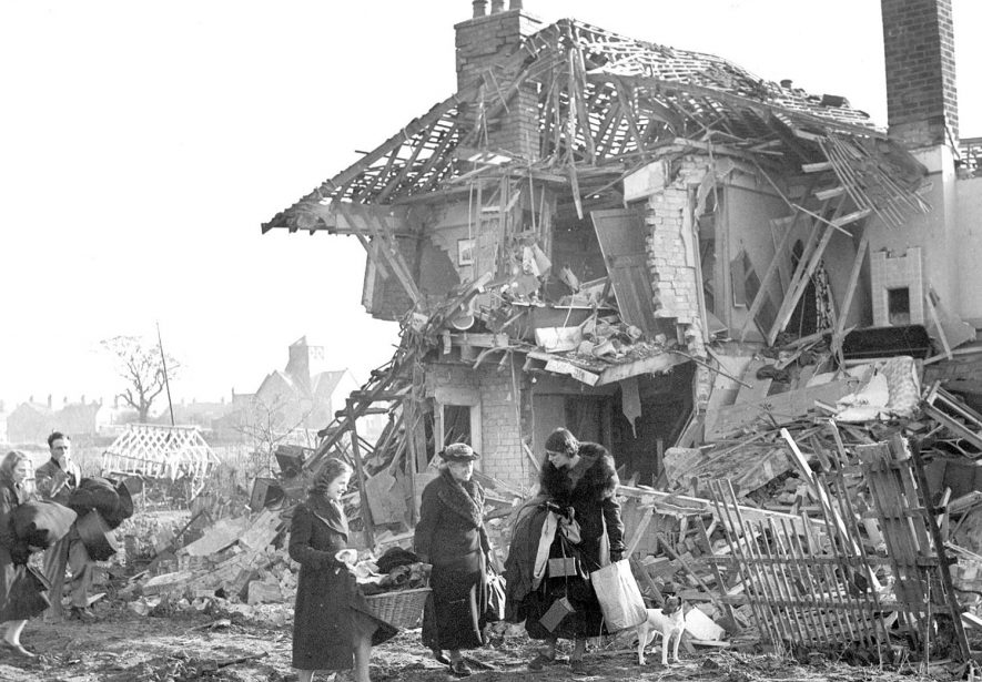 Bomb damage in Leamington Spa during World War II.  1940 |  IMAGE LOCATION: (Leamington Library)