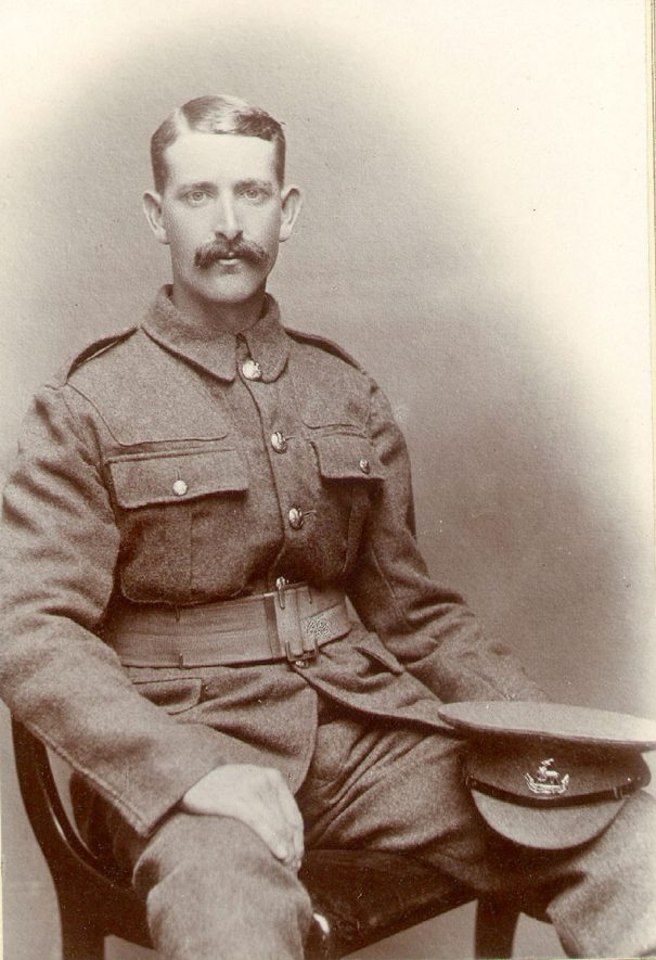 Pte Robert Charles Wrighton of Leamington Spa  4th Btn. Worcester Reg..  Died of wounds 10 October 1916.  1915 |  IMAGE LOCATION: (Leamington Library) PEOPLE IN PHOTO: Wrighton, Robert, Wrighton as a surname