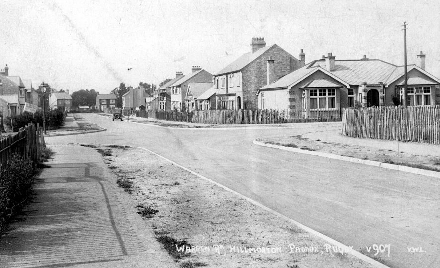 Warren Road, Hillmorton Paddox, Rugby.  1928 |  IMAGE LOCATION: (Rugby Library)