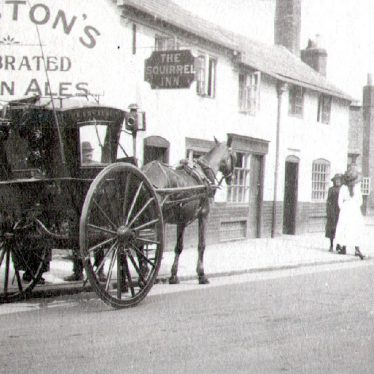 Rugby.  Church Street, horse and cart