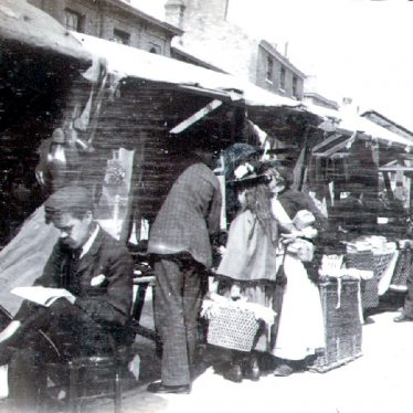 Rugby.  Church Street, market stalls