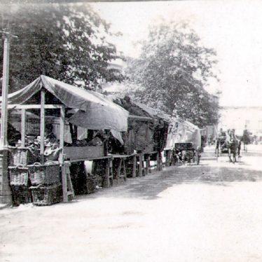 Rugby.  Church Street, market stalls