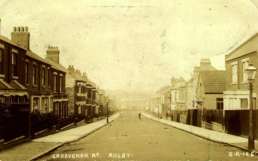 View along Grosvenor Road, Rugby.  1910s |  IMAGE LOCATION: (Rugby Library)