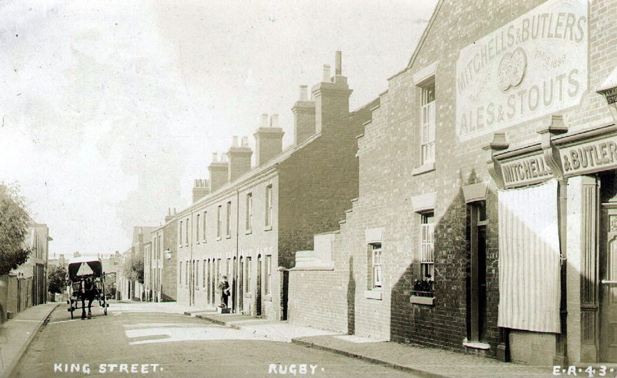 View along King Street, Rugby.  1910s |  IMAGE LOCATION: (Rugby Library)