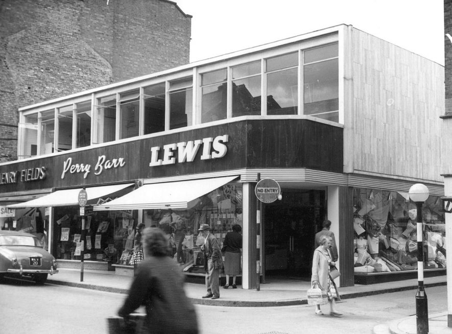 New shops in High Street, Rugby.  1959 |  IMAGE LOCATION: (Rugby Library)